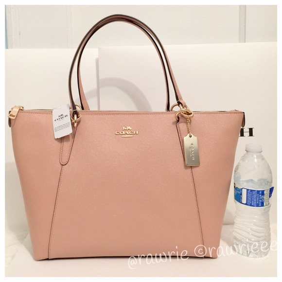 78fd06a6717a SALE New Coach Leather Ava Shoulder Tote Nude Pink